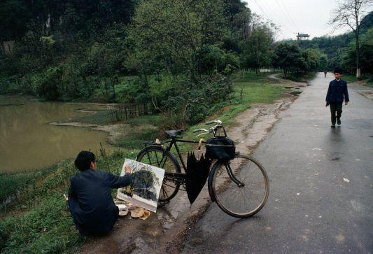 Cina. provincia di Guangxi, 1980. Foto di Bruno Barbey