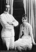 Dwight D. Eisenhower e di sua moglie, Mamie, il giorno delle nozze, 1916
