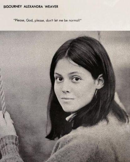 Foto dell'annuario di Sigourney Weaver
