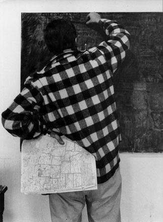 Jasper Johns by Ugo Mulas