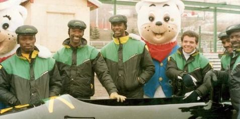 La squadra di bob giamaicana dalle Olimpiadi di Calgary 1988