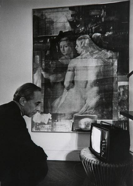 Leo Castelli, 1960. Gelatin silver print