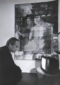 Leo Castelli nella sua casa di New York , 1964. Fotografia di Ugo Mulas