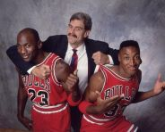 Michael Jordan, Phil Jackson e Scottie Pippen