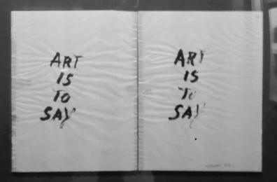 "Museo Novecento Firenze - ""Art is to say"" (1964) di Giuseppe Chiari"