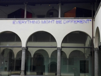 """Museo Novecento Firenze - """"Everything Might Be Different"""" (1988) di Maurizio Nannucci"""