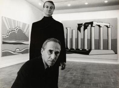 New York, Leo Castelli e Roy Lichtenstein. Fotografia di ugo Mulas