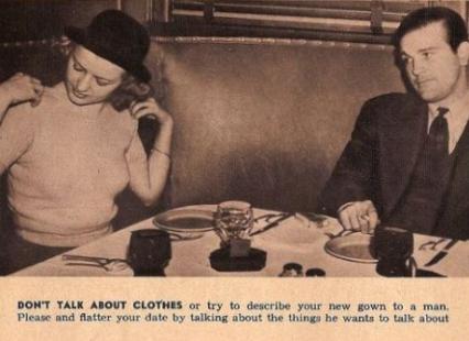 Non parlate di vestiti e non provate a descrivere il vostro nuovo abito a un uomo. Rendete piacevole e senza intoppi il vostro primo appuntamento parlando delle cose di cui lui vuole parlare