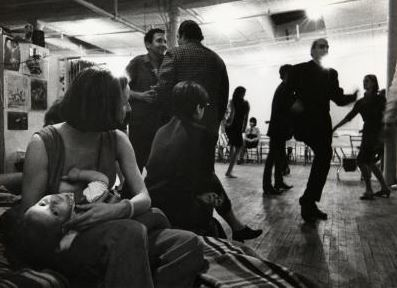 Party nello studio di Rauschenberg. Fotografia di Ugo Mulas