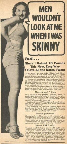 Pubblicità per l'aumento di peso