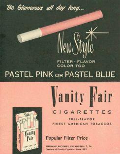 Sigarette Vanity Fair, anni 50