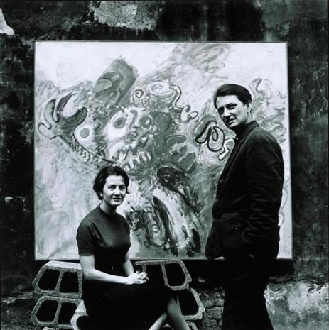 Tancredi e Beatrice Monti. Fotografia di Ugo Mulas