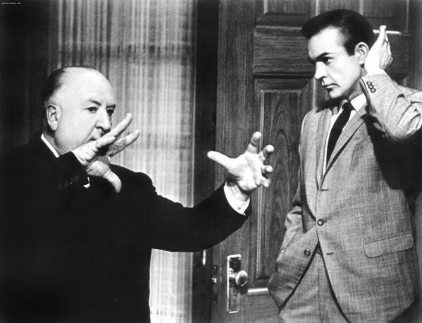 Alfred Hitchcock e Sean Connery, 1964