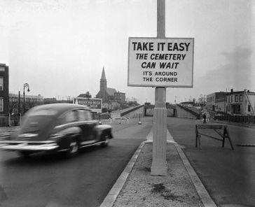 Cartello a New York, 1949