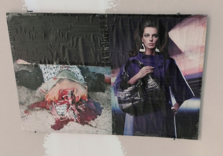 """""""Collage-Truth n. 44"""" di Thomas Hirschhorn, 2012 @ Centro Pecci di Prato - La fine del mondo"""