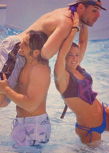 Jeff Hardy, Matt Hardy and Lita (Amy Dumas) HardyBoyz