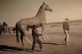 John Wayne seguito dal suo cavallo c. 1959