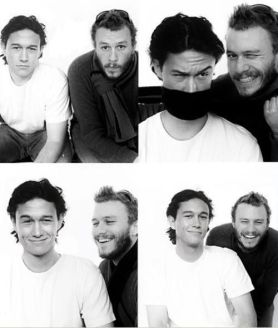 Joseph Gordon-Levitt e Heath Ledger