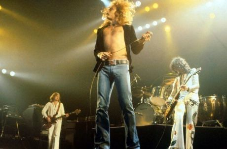 Led Zeppelin al Madison Square Garden di New York, 1977. Fotografia di Michael Putland