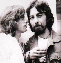 Mick Jagger e George Harrison, 1971