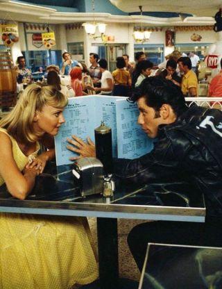 "Olivia Newton-John e John Travolta in ""Grease"", 1978"