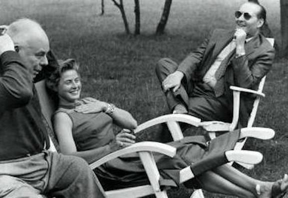 Jean Renoir, Ingrid Bergman e Roberto Rossellini