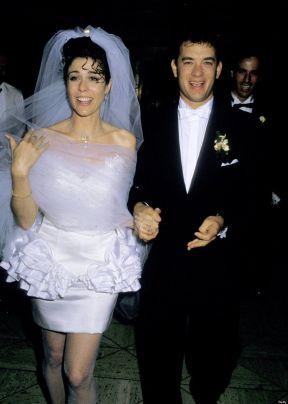 Rita Wilson e Tom Hanks al loro matrimonio 1988