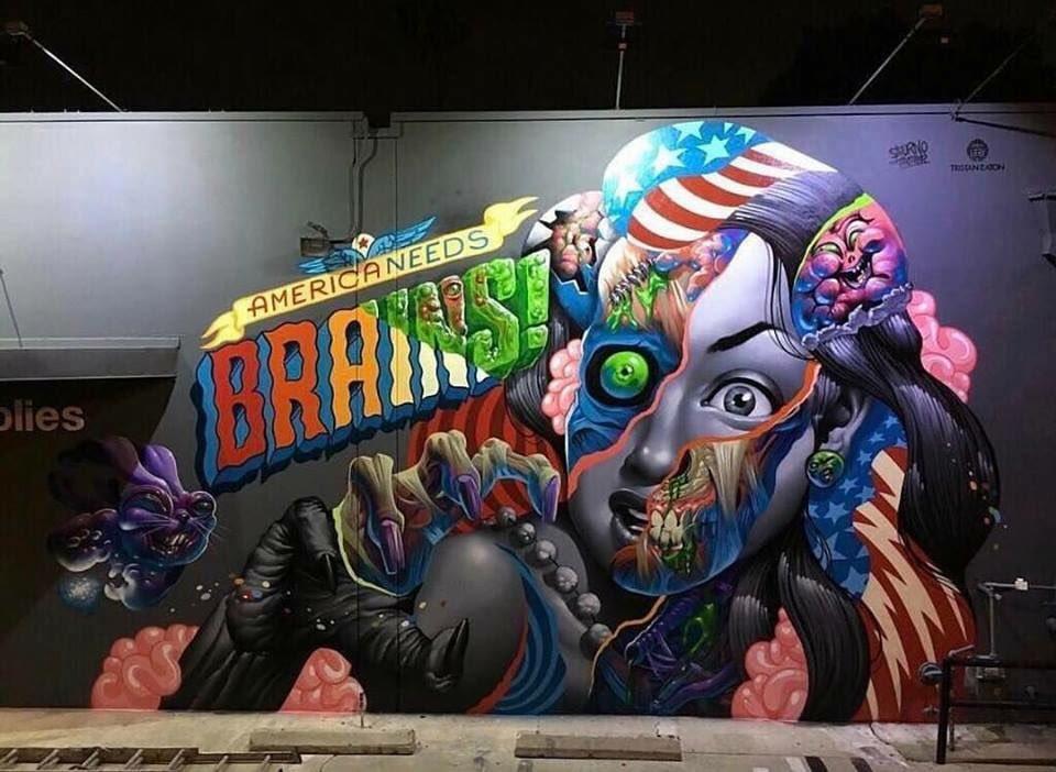 Tristan Eaton & Saturnoart @Culver City, USA
