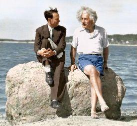 Albert Einstein a Long Island in estate nel 1939