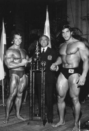 Arnold Schwarzenegger e Lou Ferrigno, anni 70
