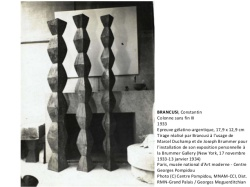 BRANCUSI, Constantin Installation view at Brummer Gallery