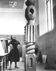 Miss Marilyn Kovler, Brancusi Publicity Photo Sculpture: King of Kings