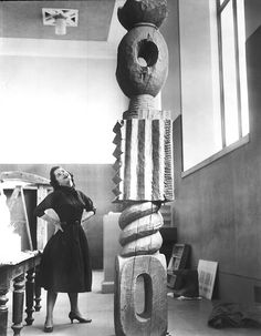 Miss Marilyn Kovler, Brancusi Publicity Photo Sculpture: King of Kings