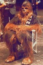 Chewbacca in pausa sul set, 1976