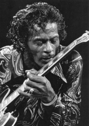 Chuck Berry a Madison Square Garden fotografato da Bob Gruen, 1971