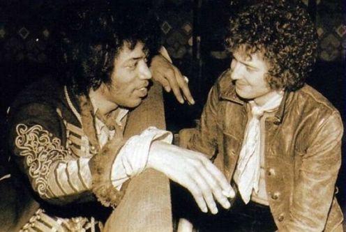 Due dei più grandi chitarristi insieme: Jimi Hendrix ed Eric Clapton