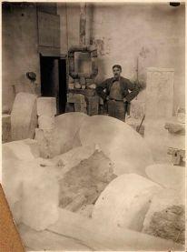 Fernand Léger in Brancusi's atelier, Paris, 1920 -by Constantin Brancusi