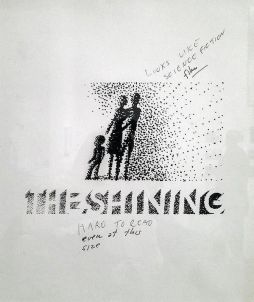 "Gli schizzi respinti di Saul Bass per il poster di ""Shining"" di Kubrick, c. 1980"