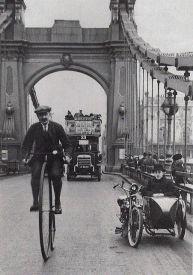 Hammersmith bridge, Londra 1910