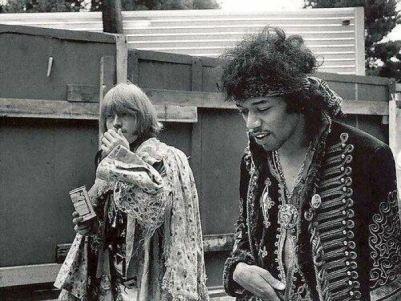 Jimi Hendrix e Brian Jones al Monterey Pop Festival, 1967