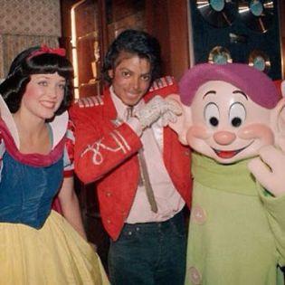 Michael Jackson con Biancaneve
