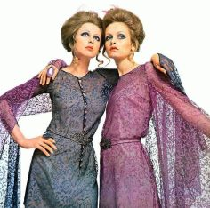 Pattie Boyd e Twiggy, Vogue Italia, 1969