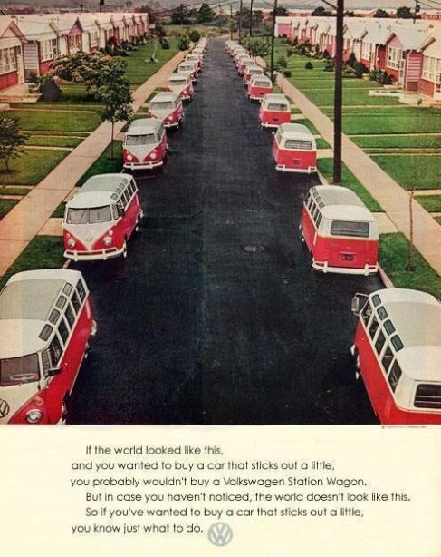 Pubblicità vintage Volkswagen