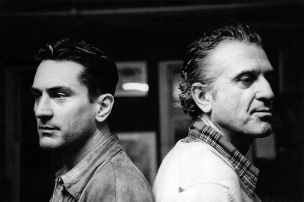 Robert De Niro con suo padre, Robert De Niro Sr.
