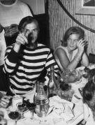 Romy e Rudolf Nureyev che cenano insieme a Nizza, 1963