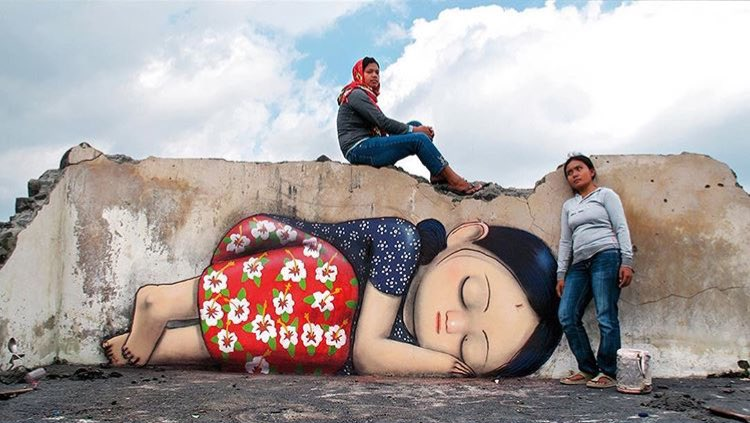 Seth Globepainter @Pangukrejo, Java, Indonesia