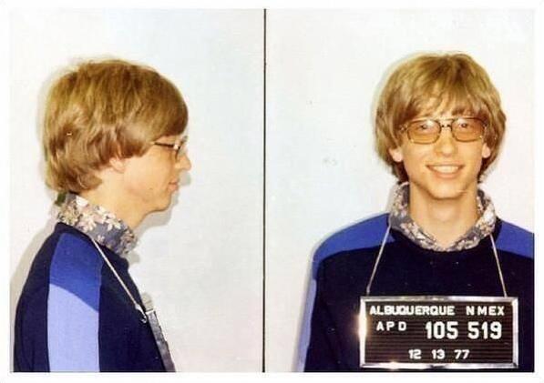 Bill Gates arrestato per guida senza patente