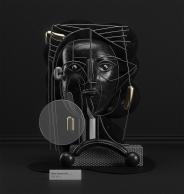 Black figure (2017) by Omar Aqil
