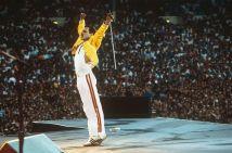 Freddie Mercury sul palco, Wembley 1986