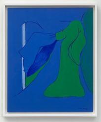 Helena Almeida - Untitled, 1972 (Painting, oil on hardboard)